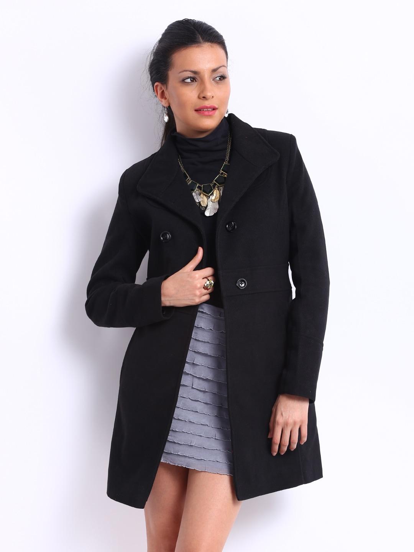 Women Black Trench Coat