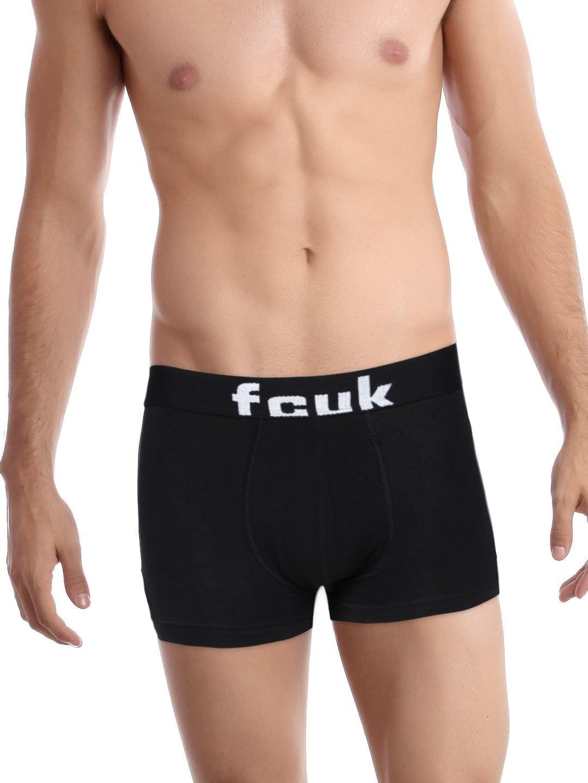 Fcuk FCUK Underwear Men Black Active Trunks TGDAQ-BLACK