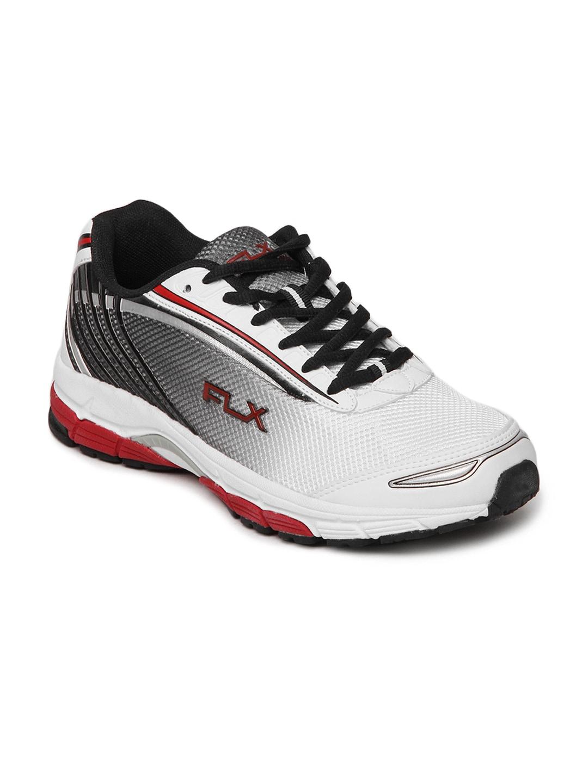 FLX Men Black & White Structure Sports Shoes