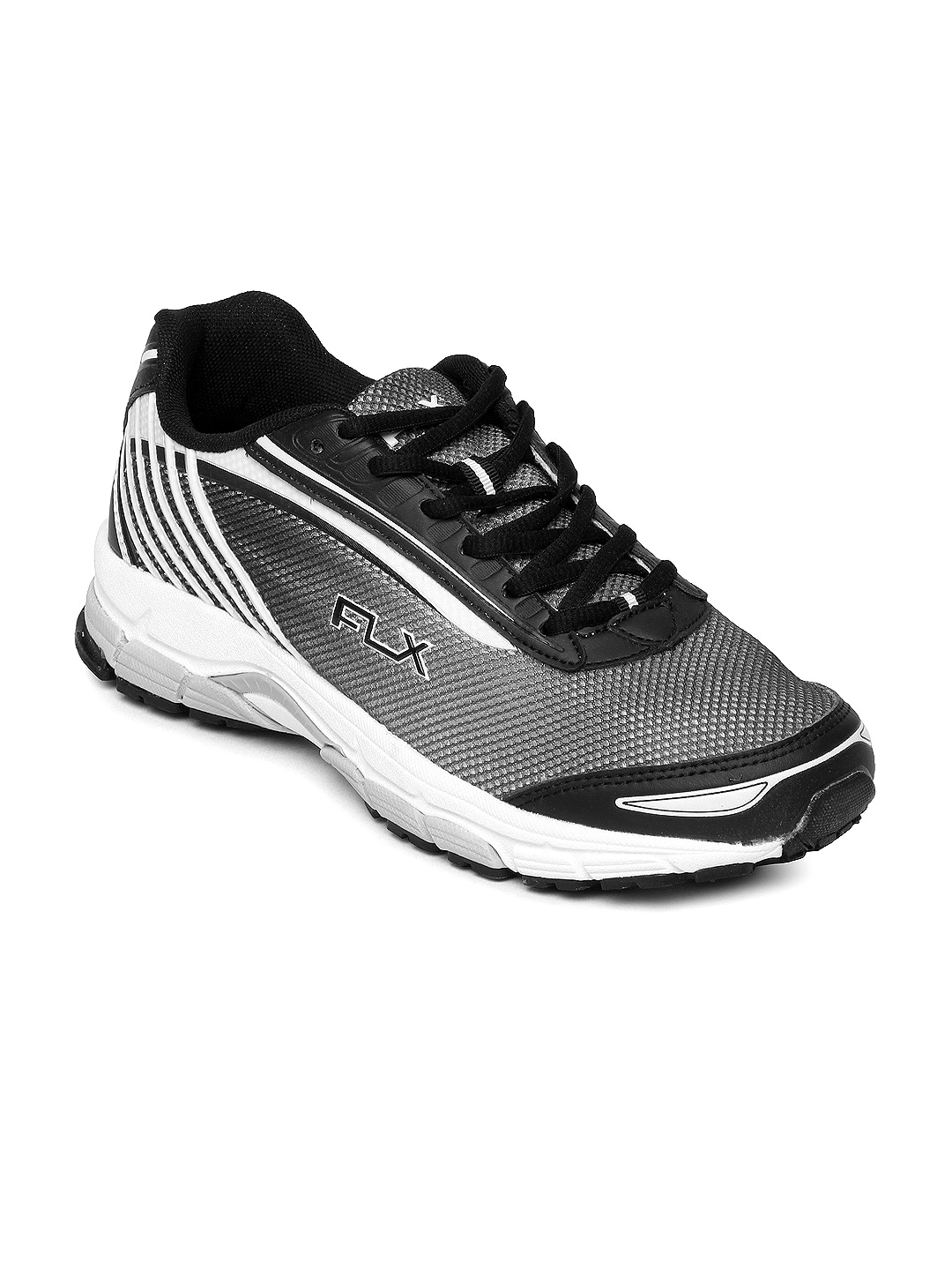 FLX Men Grey & White Structure Sports Shoes