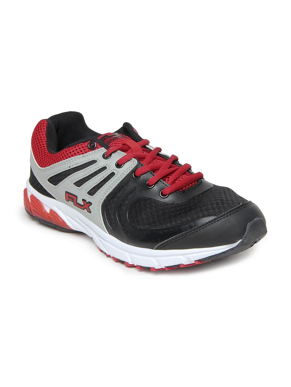 FLX Men Black Exotic Sports Shoes