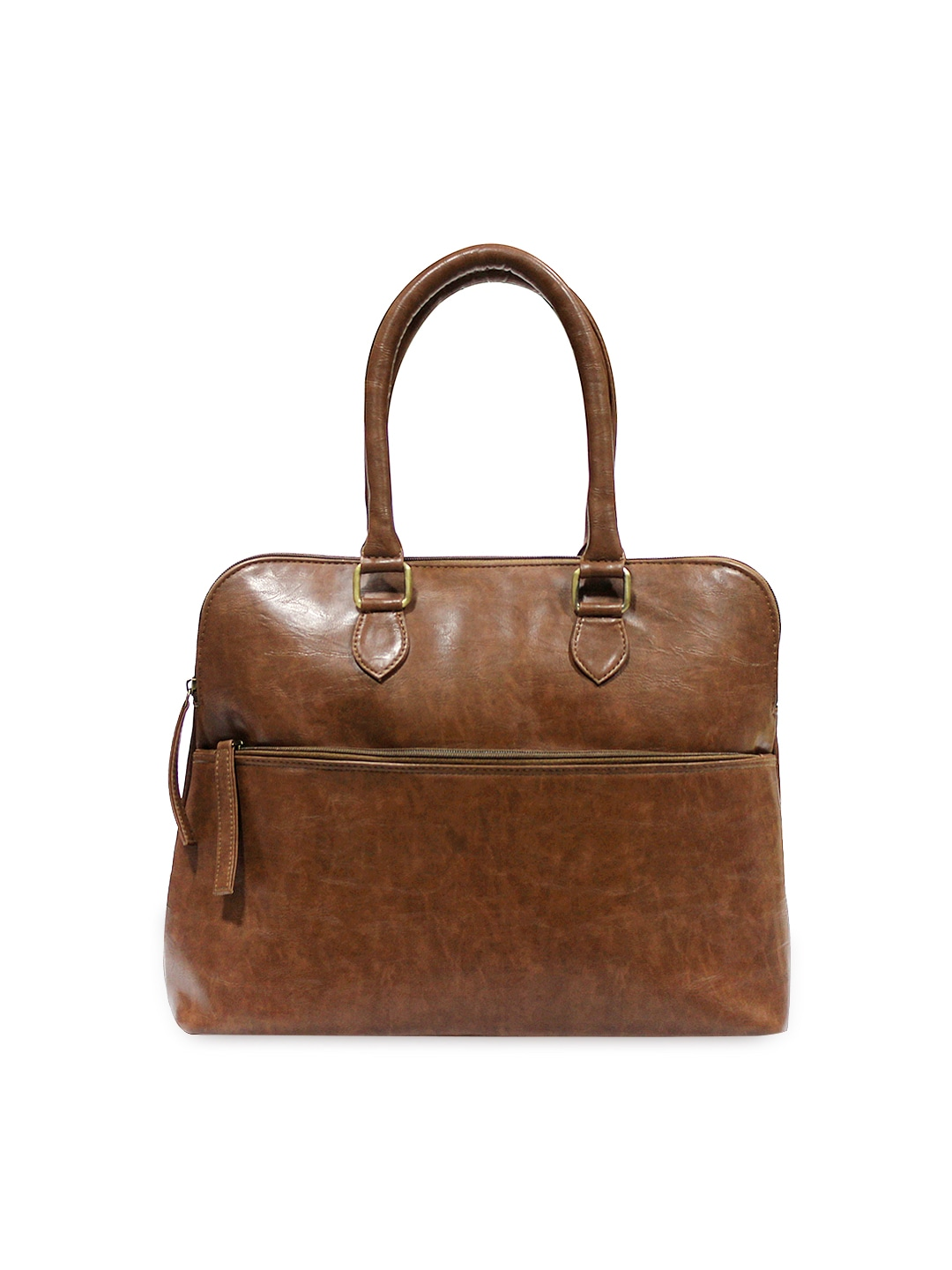FabAlley Women Brown Tote Bag