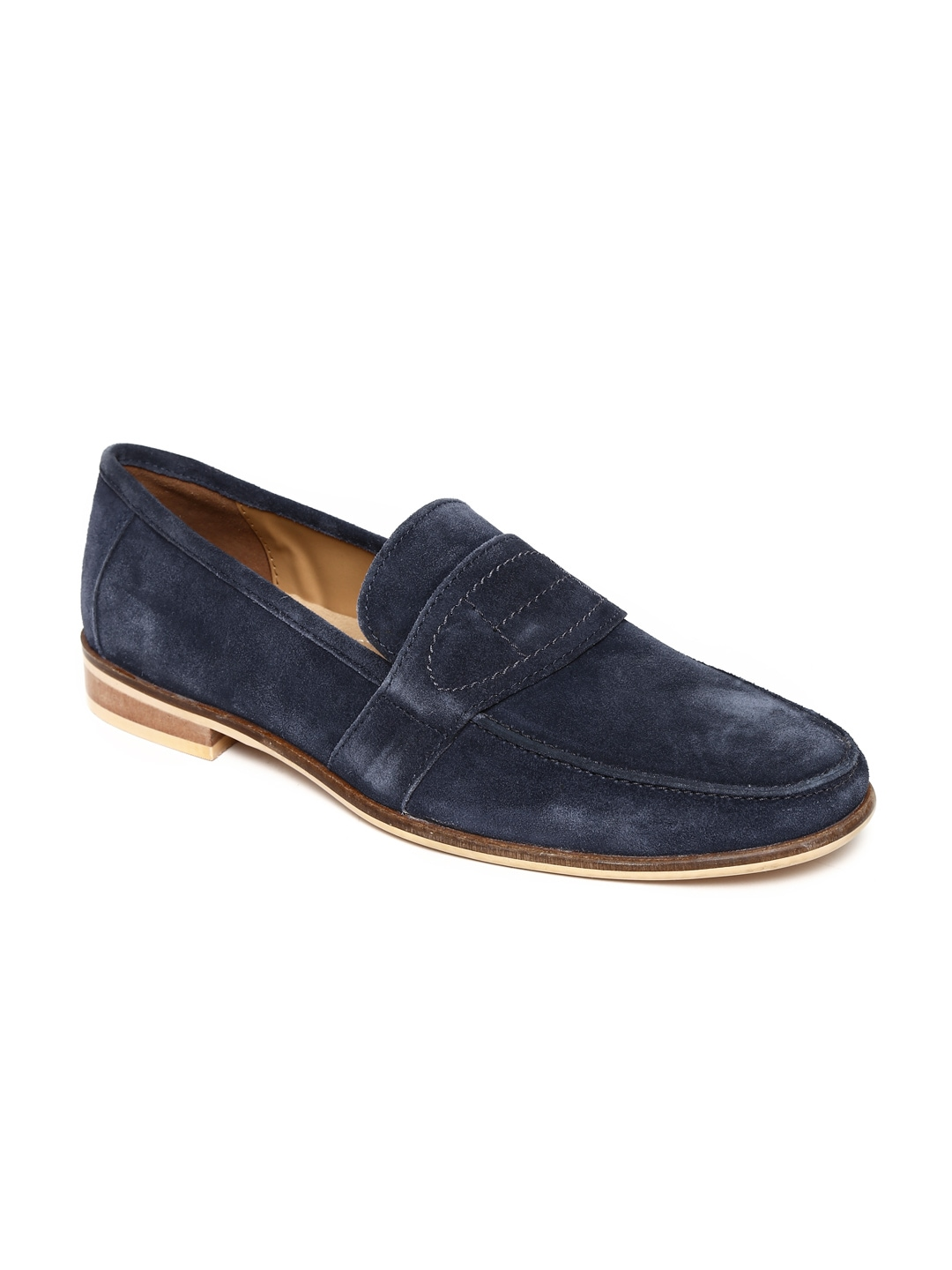 Famozi Famozi Men Navy Suede Casual Shoes (Blue)