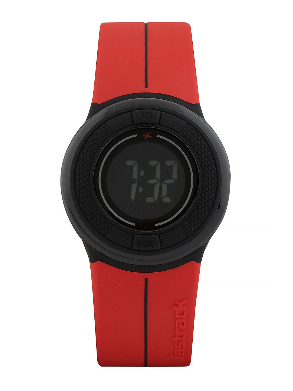 Fastrack Digitals Women Red LCD Digital Watch 68005PP02J