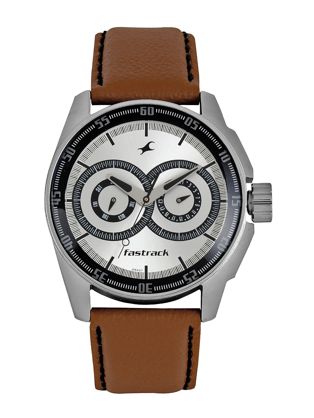 Fastrack Men Silver Toned Dial Watch 3089SL07