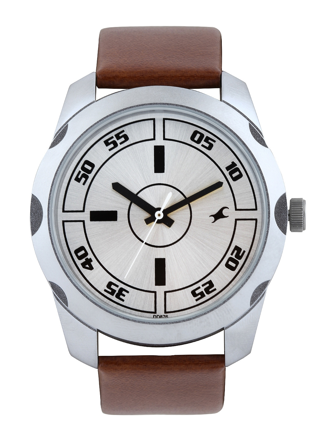 Fastrack Men Steel-Toned Dial Watch 3123SL02