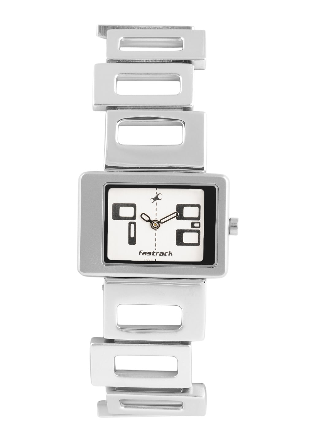 Buy Fastrack Women Silver Toned Dial Watch Na2404sm01