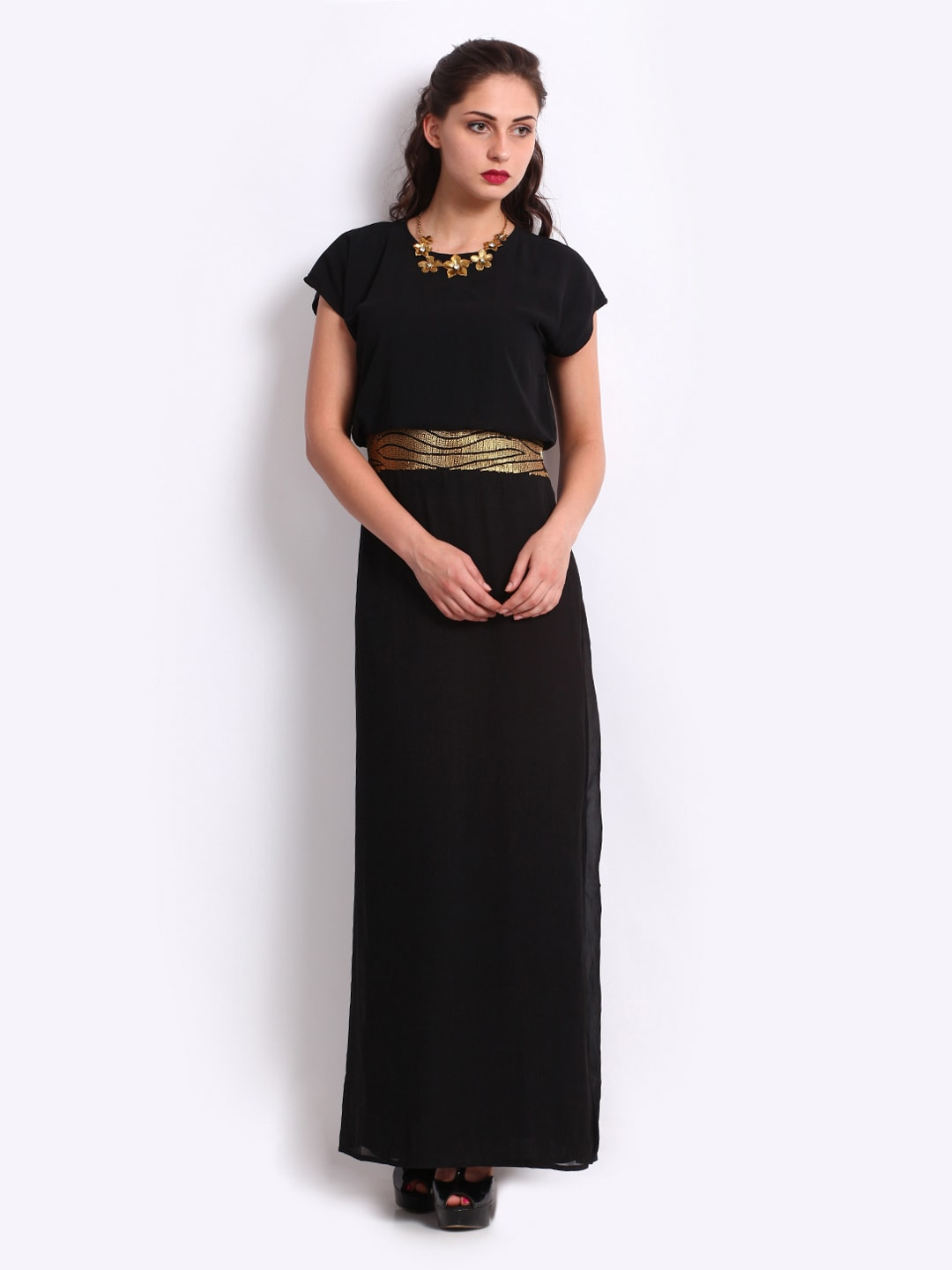 New Buy The Vanca Black High Low Dress  Dresses For Women  Myntra