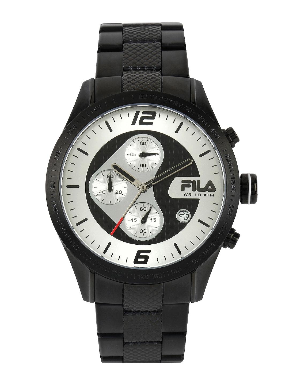 Fila Fila Men Silver Toned & Black Dial Watch