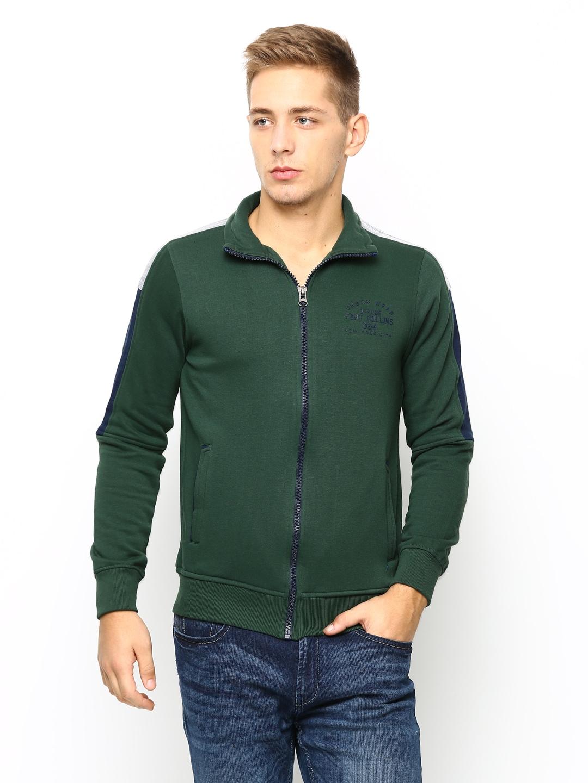 Fort Collins Men Green Sweatshirt