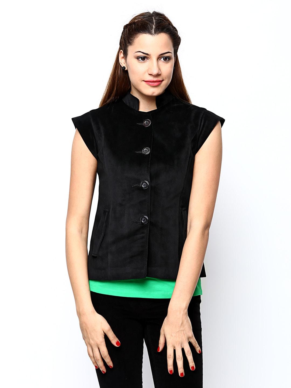 Fort Collins Women Black Velvet Coat