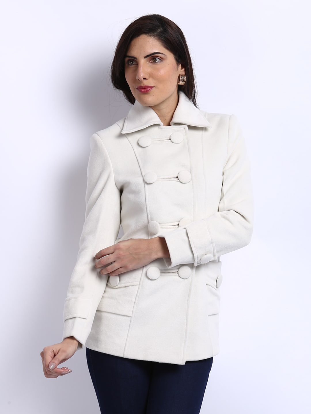 Buy Fort Collins Women White Coat 1451697 for women online in ...