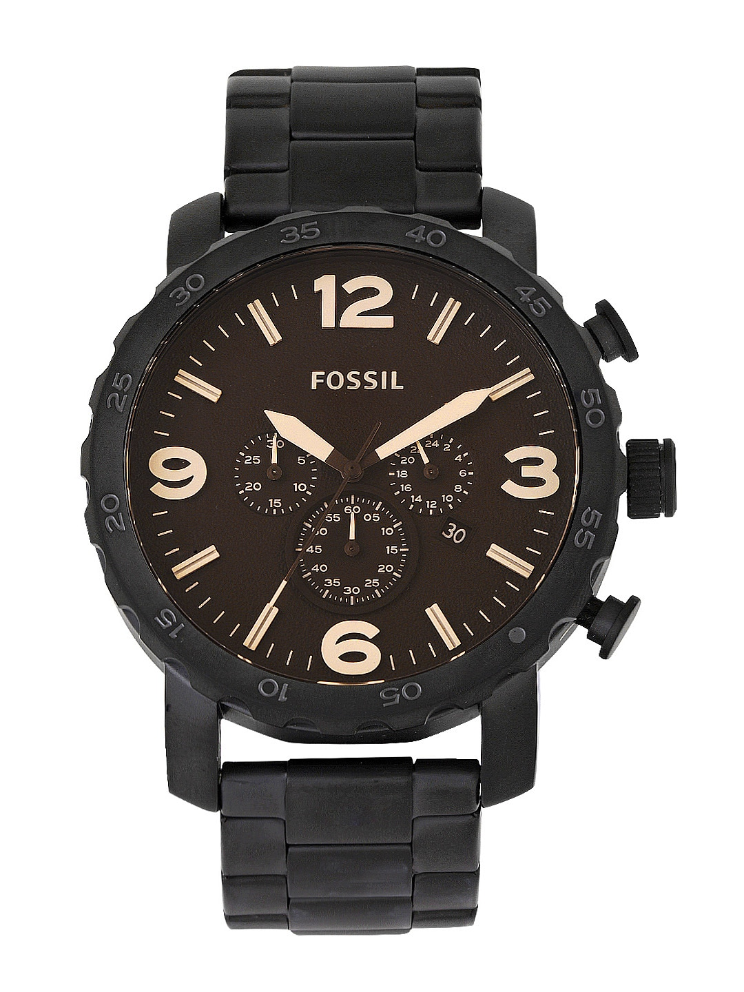 Fossil Men Brown Dial Chronograph Watch JR1356I