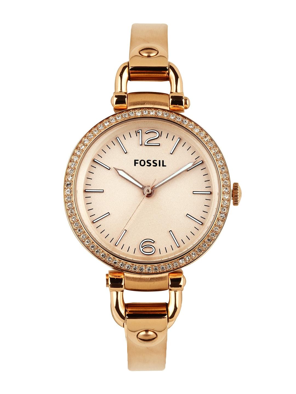 Buy Fossil Women Peach Coloured Dial Watch Es3226i  361. Gold Bracelet. E Grade Diamond. Mini Pendant. Biker Pendant. Bangle Watches. Sagittarius Necklace. 3ct Diamond. Cartier Brooch