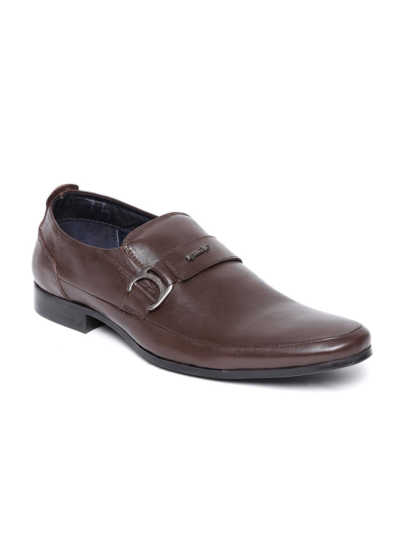 buy gas brown leather formal shoes 633 footwear