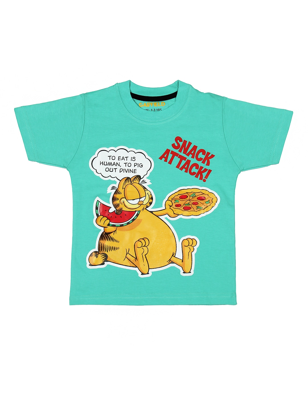 Garfield Garfield Boys Blue Printed T-Shirt (Multicolor)