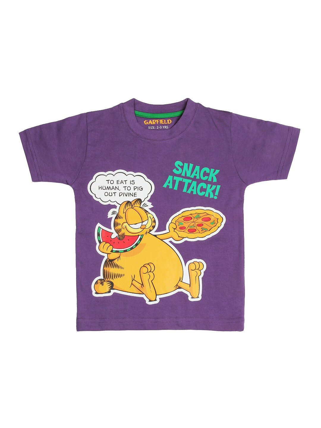 Garfield Garfield Boys Purple Printed T-Shirt (Multicolor)