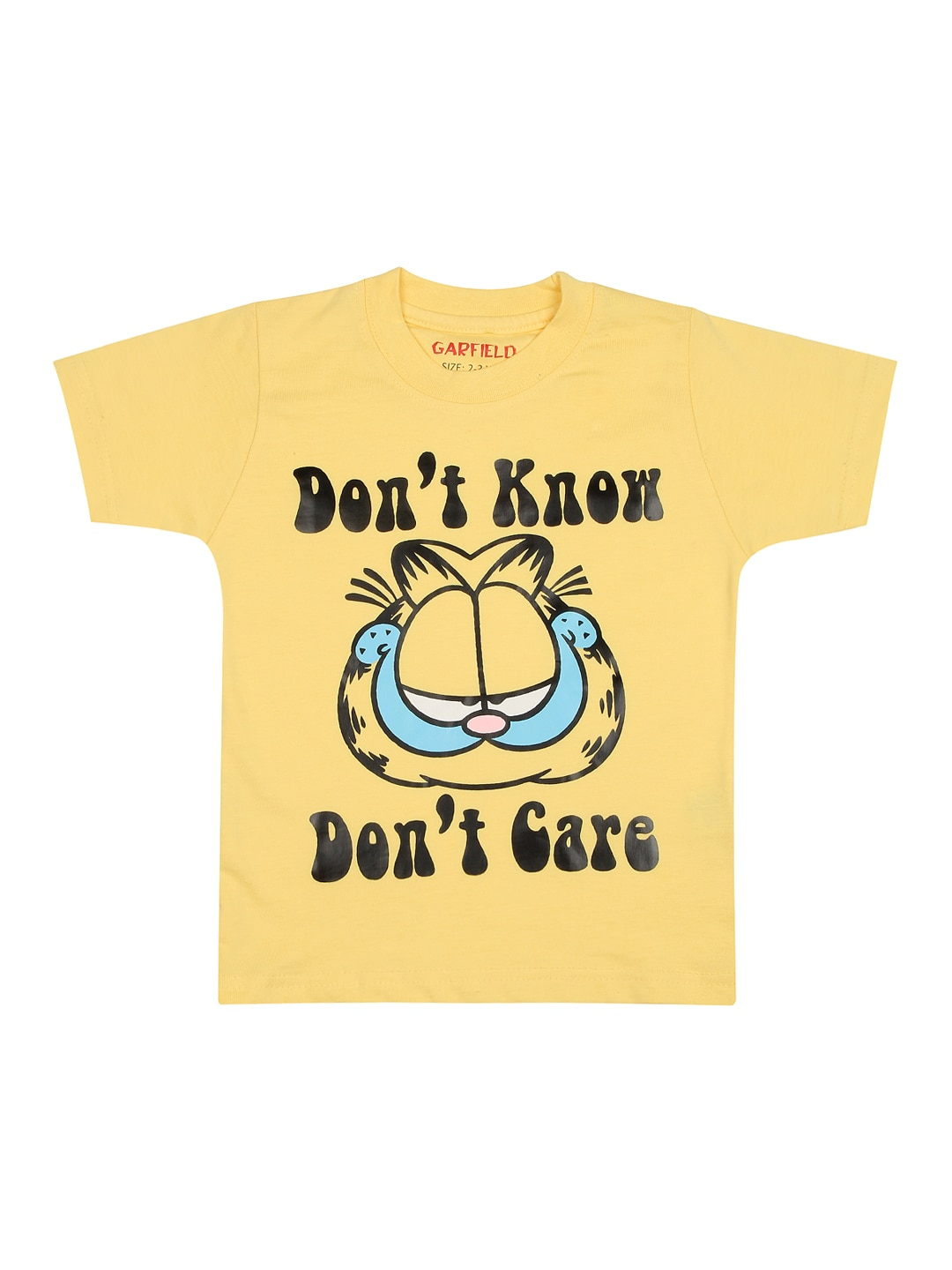 Garfield Garfield Boys Yellow Printed T-Shirt (Multicolor)