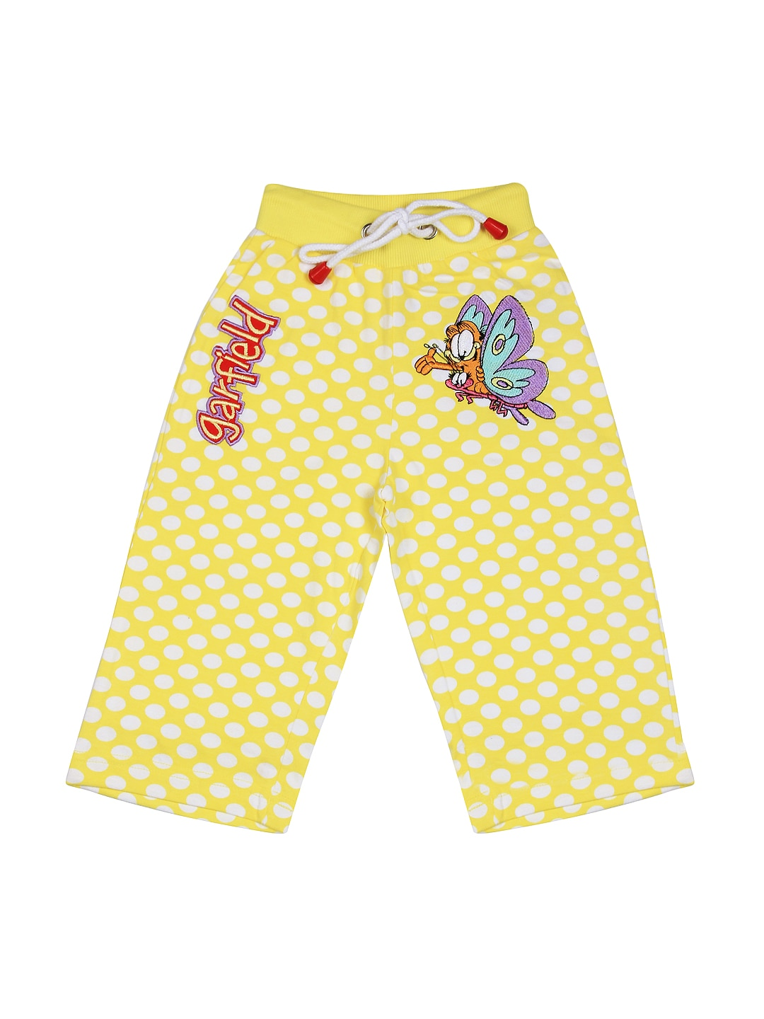 Garfield Girls Yellow Polka Dot Lounge Pants