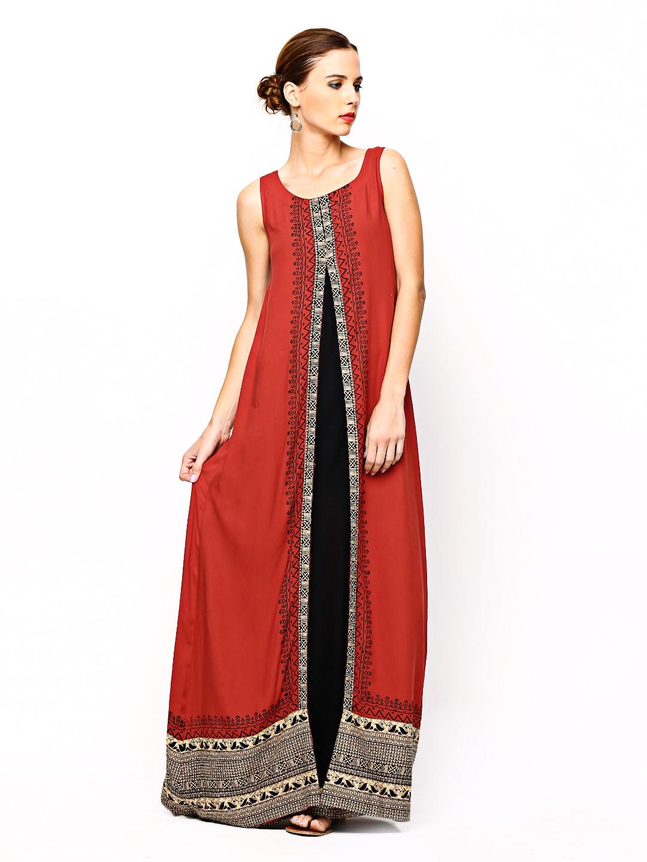 56d45024f0d66 Buy Global Desi Women Red & Black Printed Kurta (multicolor ...