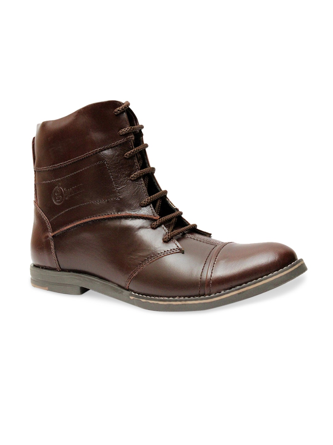 Guava Men Brown Leather Boots