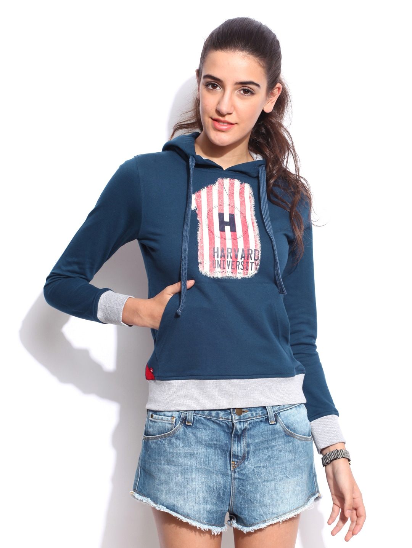 Style Tribe Womens Midnight Blue Daytrip Hooded Long Sleeve Sweatshirt at Sears.com
