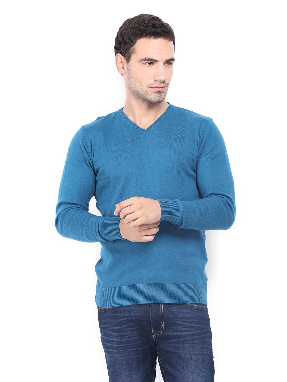 HIGHLANDER Men Blue Sweater