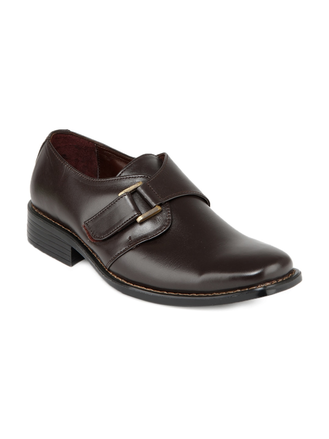 buy hm brown leather semi formal shoes 288