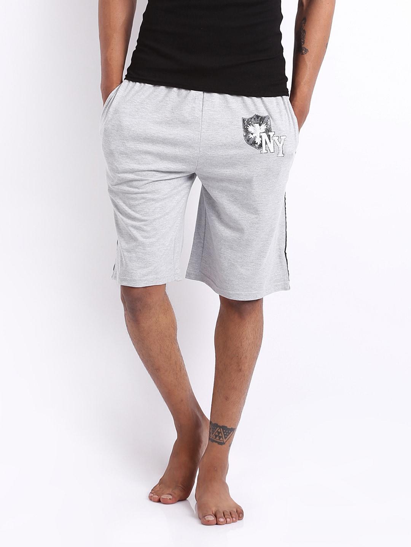 Hanes Hanes Men Grey Melange Shorts P031-003-AP (Multicolor)