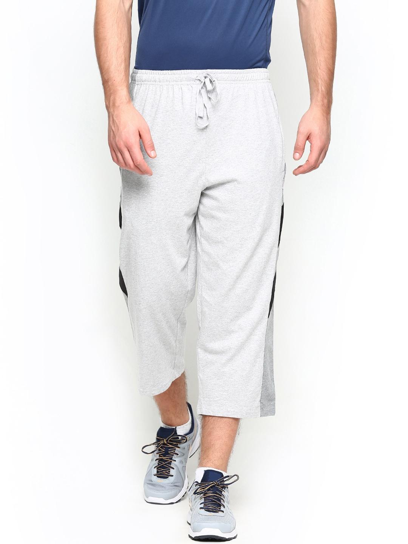 Hanes Hanes Men Grey Melange 3\/4Th Length Shorts (Multicolor)
