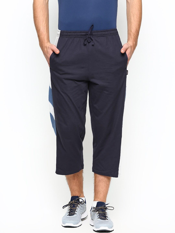 Hanes Hanes Men Navy & Grey 3\/4Th Length Shorts (Multicolor)