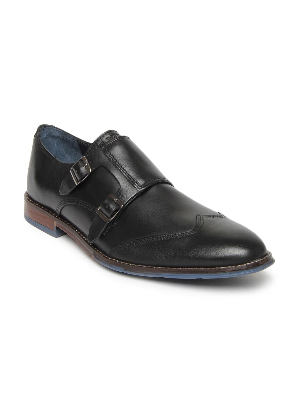 Hush Puppies Men Black Leather Semiformal Shoes