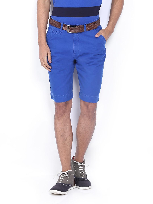 IZOD Men Blue Gram Slim Fit Shorts
