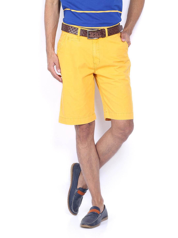 IZOD Men Mustard Yellow Shorts