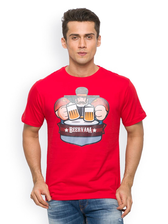 Imagica Imagica Men Red Printed T-Shirt (Multicolor)