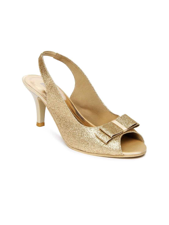 Inc 5 Women Gold-Toned Heels (yellow)