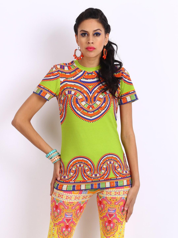Buy Indian By Manish Arora Women Fluorescent Green Printed