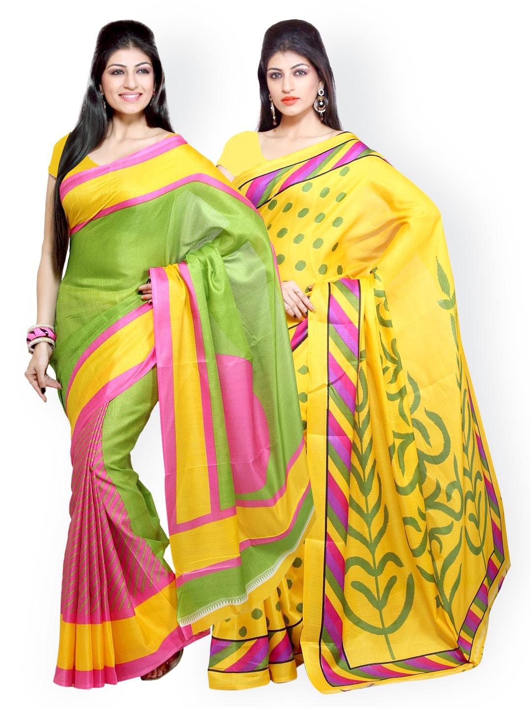 Ishin Selection of 2 Printed Sarees