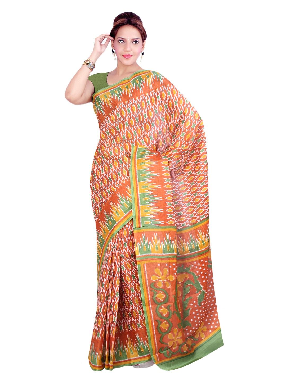 Ishin Multicoloured Bhagalpuri Art Silk Traditional Saree (multicolor)