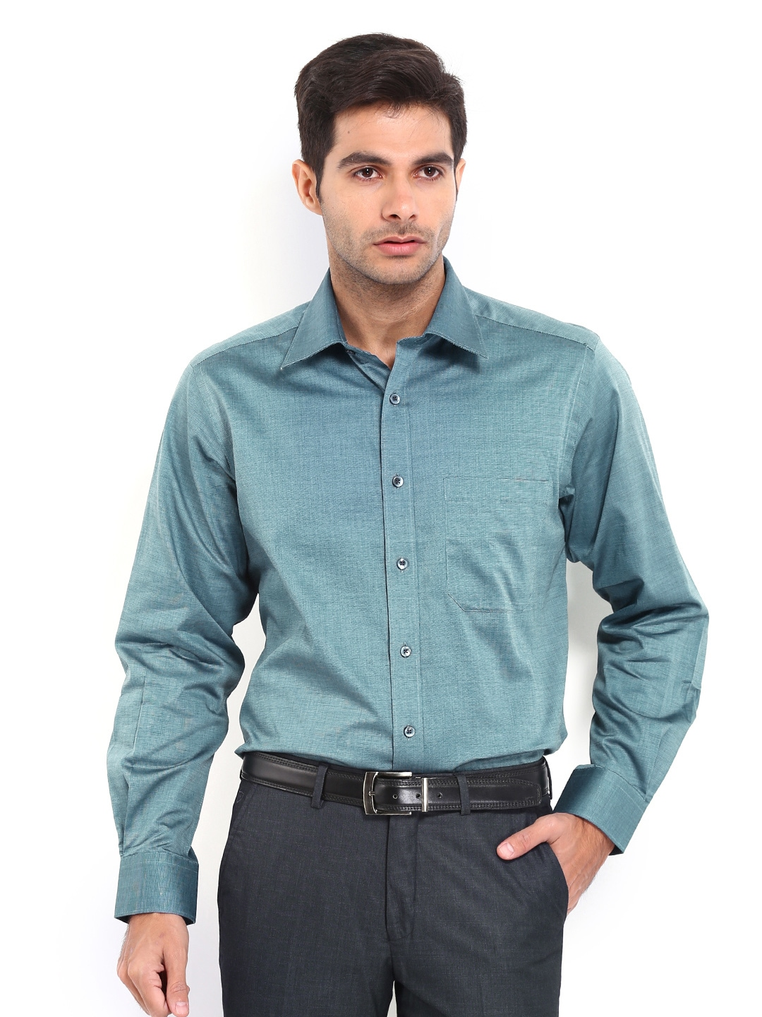 J-Hampstead J Hampstead Men Blue Formal Shirt (Multicolor)