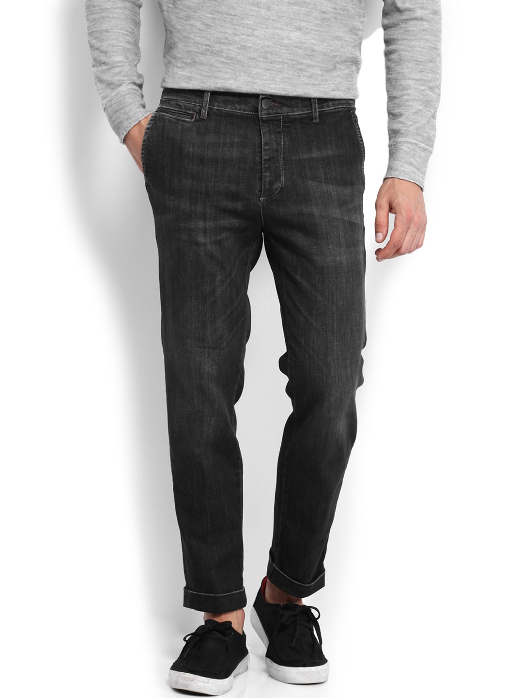 Jack & Jones Men Black Jeans