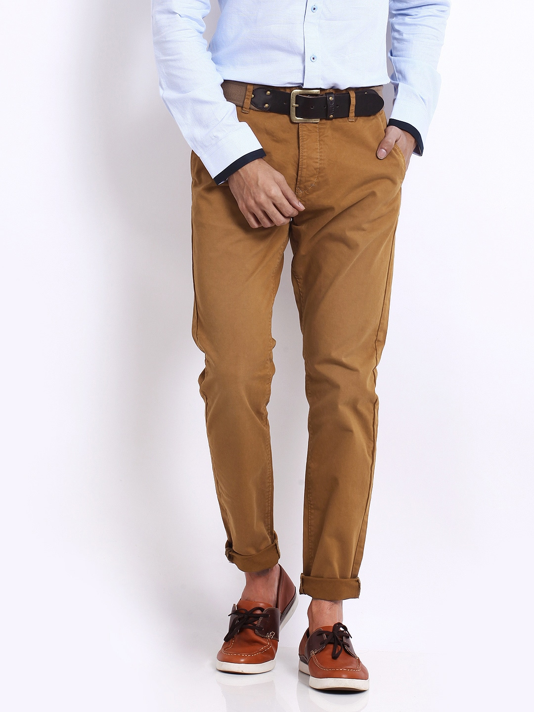 Jack & Jones Men Brown Eric Anti Fit Trousers
