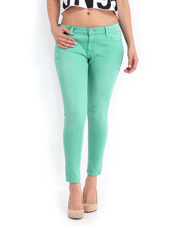 c5f7b7c26636a Jealous 21 Women Green Hottie Ultra Slim Fit Ankle-Length Jeans (multicolor)