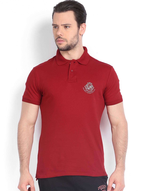 Buy jockey men red polo t shirt 2 apparel for men 517024 for Jockey t shirts sale