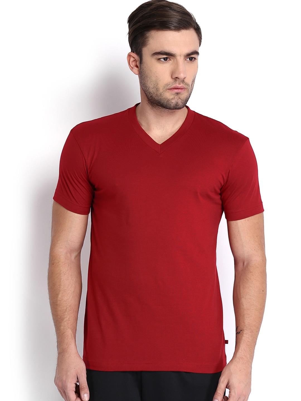 Buy jockey men red t shirt 2 apparel for men 517010 for Jockey t shirts sale