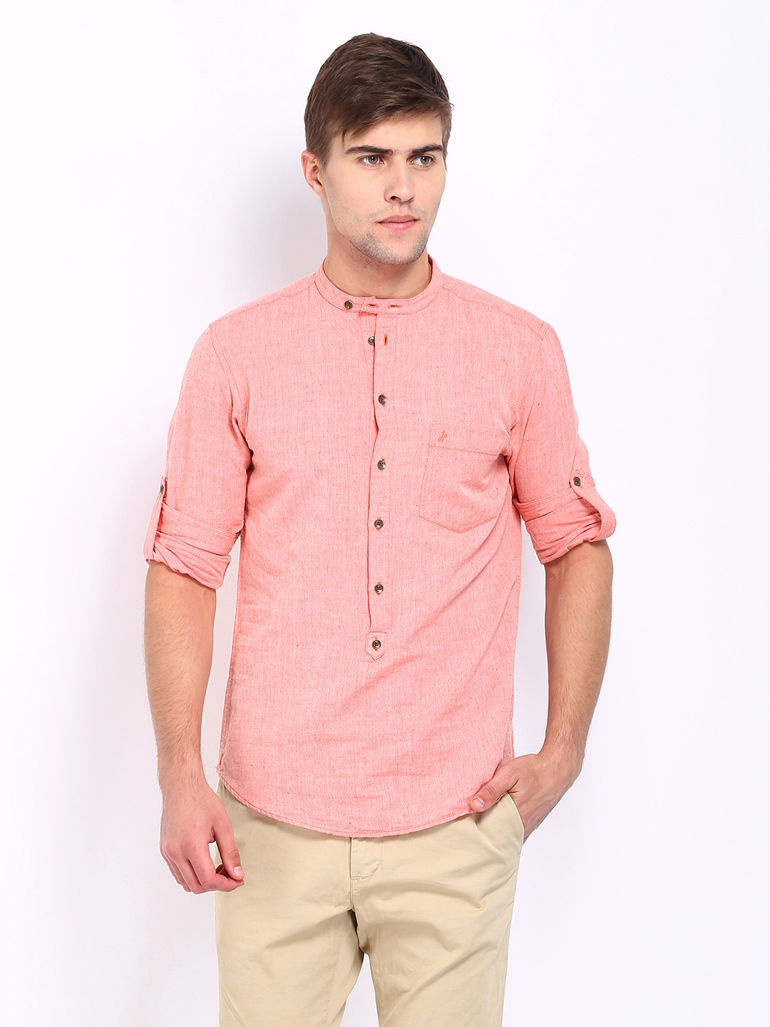 Peach Mens Shirt | Is Shirt
