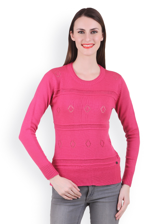 Juelle Juelle Women Pink Sweater (Multicolor)