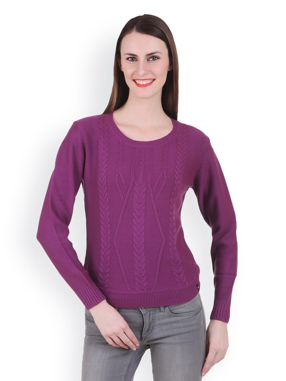 Juelle Juelle Women Purple Sweater (Violet)