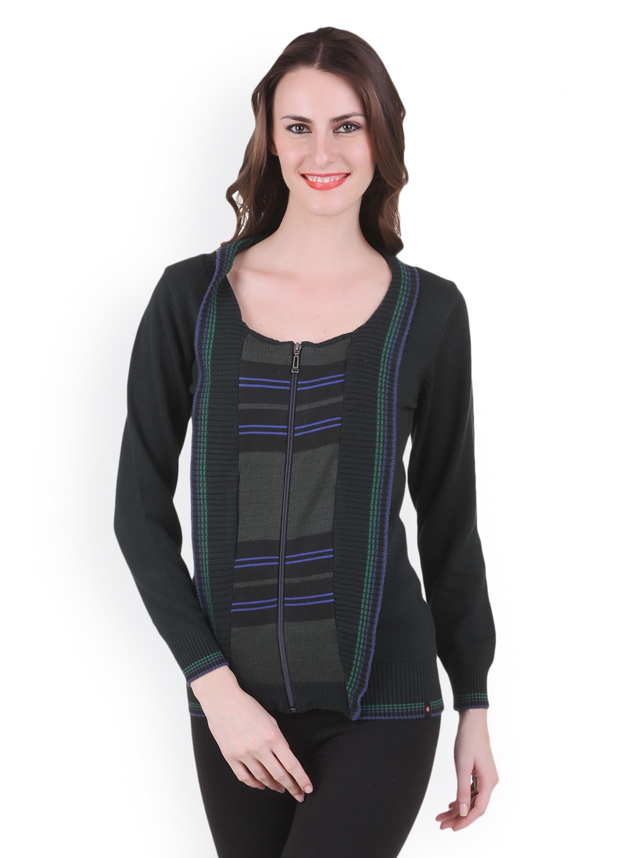 Juelle Juelle Women Black & Grey Sweater (Multicolor)