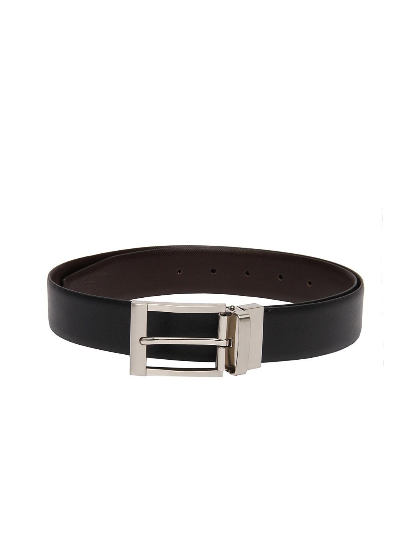 Kara Men Black & Brown Reversible Leather Belt